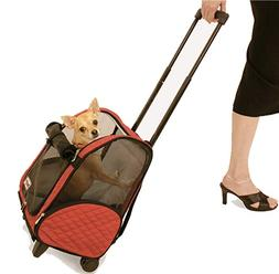 Snoozer SN-86201 Roll Around Pet Carrier - Medium-Red