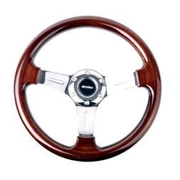 NRG Innovations ST-015-1CH Classic Wood Grain Wheel , Chrome
