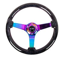 NRG Innovations ST-036BSB-MC Black Sparkled Wood Grain Wheel
