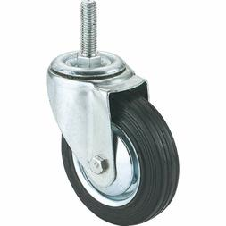 Steelex 6 Inch Caster Black Rubber Swivel Wheel Stud 320 lbs