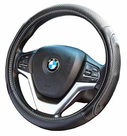 Steering Wheel Covers with Genuine Leather Universal 15 inch
