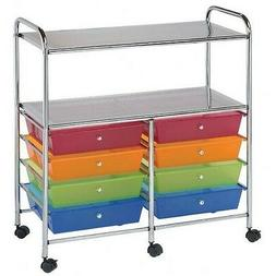 Blue Hills Studio Storage Cart 8-Drawer  with 2-Shelf Multi-