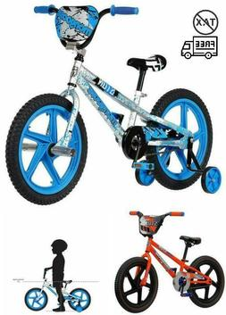 MONGOOSE STUN Boys Freestyle BMX Bike w/Training Wheels, 18""