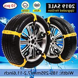 PrettyQueen SUV Car Snow Chains for Trucks Cars Snow Tire Ch