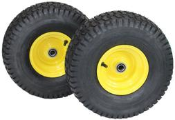 15x6.00-6 Tires & Wheels 4 Ply for Lawn & Garden Mower Turf