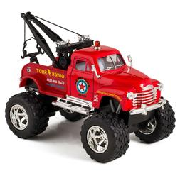 Tow Truck Toy Die Cast Off-Road Wrecker Boys Kids Play Gift