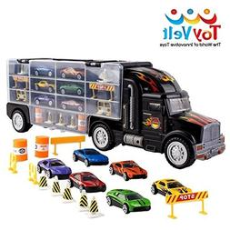 Transport Car Carrier Truck Toy for Boys with 6 Cars Inside