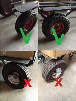 "Wennow Tubless Flat Free 10"" Tire Wheel for Hand Truck Tire"