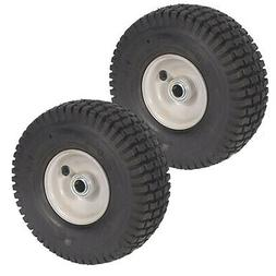 two 2 pack front assembly mower wheels