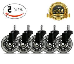 universal office chair caster wheels set of
