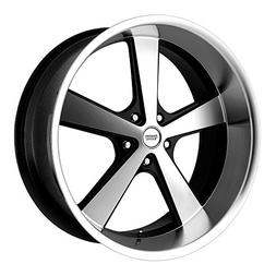 American Racing VN701 Nova Gloss Black Wheel with Machined F