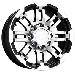 Vision Warrior 375 Gloss Black Wheel with Machined Face
