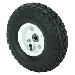 10 in. Haul-Master Pneumatic Tire on White Wheel - 4.10/3.50