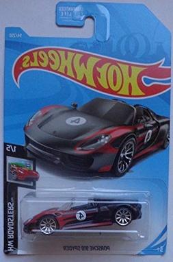 HOT Wheels Porsche 918 Spyder Black 94/250