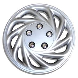 TuningPros WSC-868S15 Hubcaps Wheel Skin Cover 15-Inches Sil